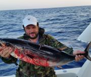 Морская рыбалка на Кипре.Тунец,рыба меч, корифена.